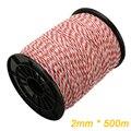 500 м рулонный трос для электрического ограждения, красный, белый полипровод со стальным полиэтиленовым тросом для конского ограждения для ж...