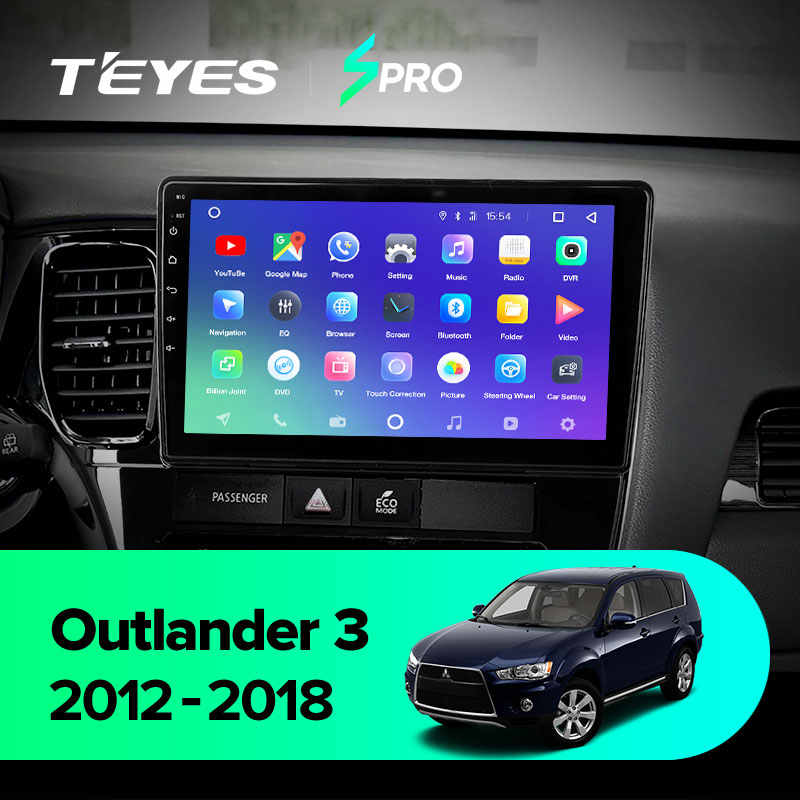 TEYES SPRO Android Car Dvd Gpsเครื่องเล่นมัลติมีเดียสำหรับMitsubishi Outlander Xl 3 รถDvdนำทางวิทยุเครื่องเล่นวิดีโอเสียง