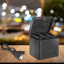 3-Way Battery Charger Dock Opladen Box Type-C Interface Voor Insta 360 Een X Sport Panoramische Camera