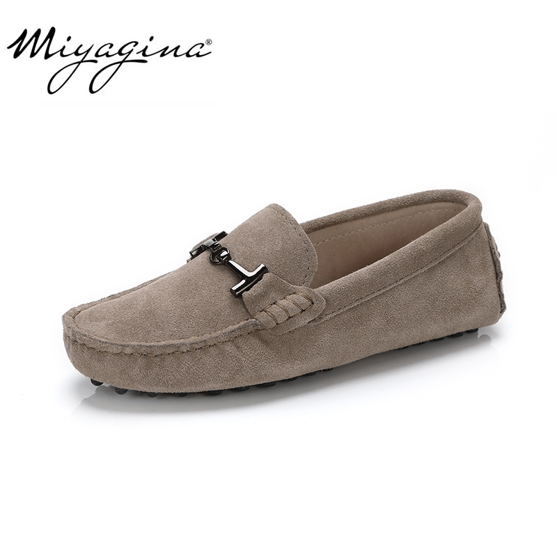 MIYAGINA 100% Genuine Leather Women Shoes 2020 New Women Flats Spring Flat moccasins Woman Casual Shoes 17 Colors Size 34-41