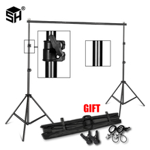 Background Stand Backdrop Support System Kit 2.6M x 3M 3M x 7M with Portable Carrying Bag for Muslins Backdrops,Paper and Canvas lightdow 2x3m 6 6ftx9 8ft adjustable backdrop stand crossbar kit set photography background support system for muslins backdrops
