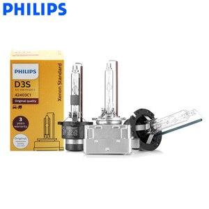 Philips HID D1S D2S D2R D3S D4S D5S 35W Xenon Standard 4200K Bright White Light Auto Original Headlight ECE 100% Authentic, 1X
