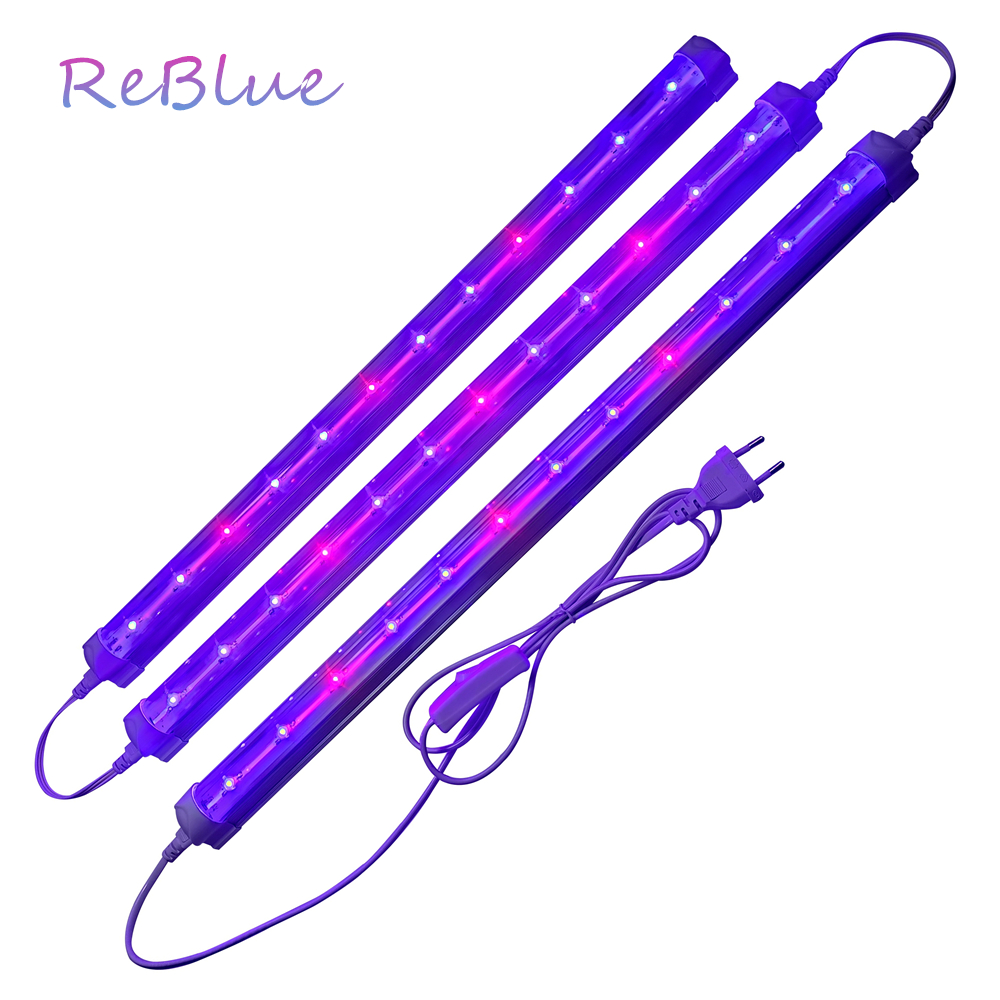 ReBlue Plant Light Phyto Lamp 36W T8 Full Spectrum Led Lamp For Plants Grow Light Full Spectrum Led Grow For Flower Indoor