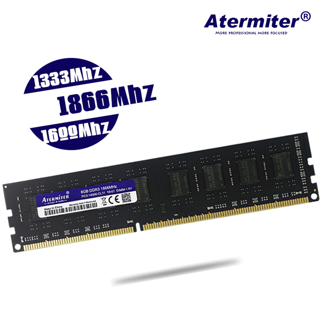 DDR3 8GB 4GB 2GB PC3 1333 1600 1866 1333MHZ 1600MHZ 1866MHZ 12800 10600 2G 4G 8G PC Memory RAM Memoria Module Computer Desktop 2