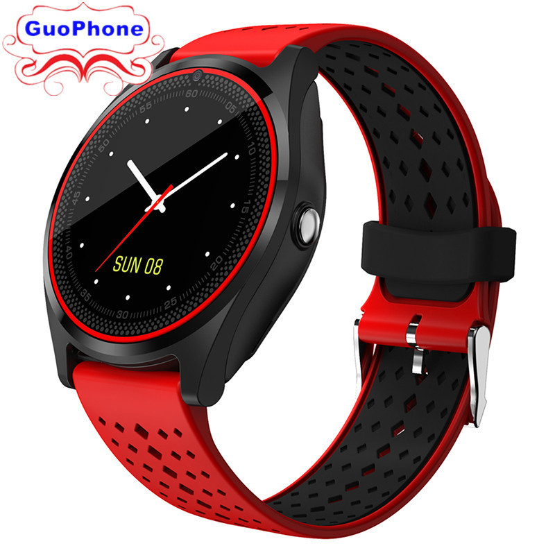 V9 SmartWatch Phone 1.22inch TouchScreen Camera Bluetooth MP3 SIM Card TF Card Children Cartoon Fashion Sport Cheap Mobile Phone