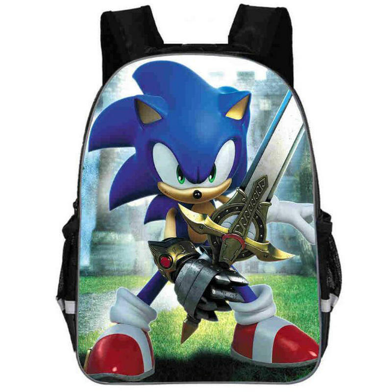 11/13/16 Inch Sonic Shadow Backpacks For Kids Cartoon Printed School Bags Boys Girls Primary Schoolbag Students Backpacks Gifts