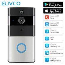1080P умный видео дверной звонок WiFi домофон Tuya Smart Life APP контроль беспроводной дверной звонок ip-камера мониторинг домашней безопасности
