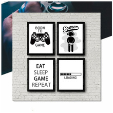 2019 New Design Boys Game Print Poster Illustration Art Gamer Quotes Wall Canvas Painting For Home Kids Room Decoration