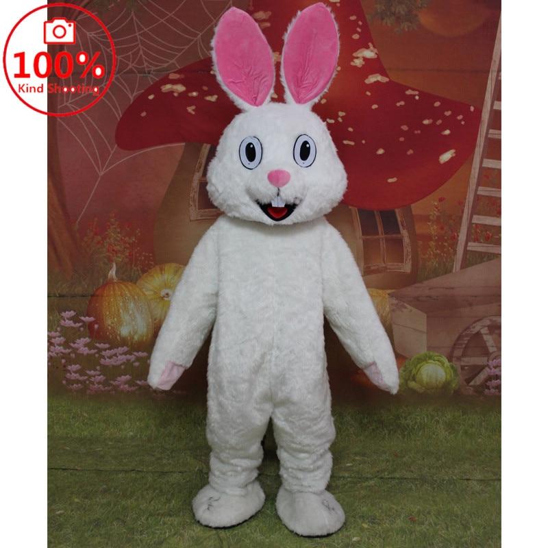 Easter Mascot Costume Cartoon Rabbit Cosplay Parade Adult Fancy Dress Suit