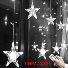 Garland Fairy Lights Led Star String Curtain Light Outdoor for Party Room New Year's Wedding Christmas Home Festoon Decorations