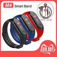 M4 Banda Intelligente Inseguitore di Fitness Orologio Braccialetto di Sport di Frequenza Cardiaca Pressione Sanguigna Smartband Monitor di Salute Intelligente Wristband per Adulti