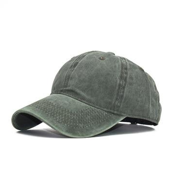 Washed Cotton Pure Color Light Board Men's Baseball Cap Multi-Color Optional Bone Cap, Stitching Dad Hat 2