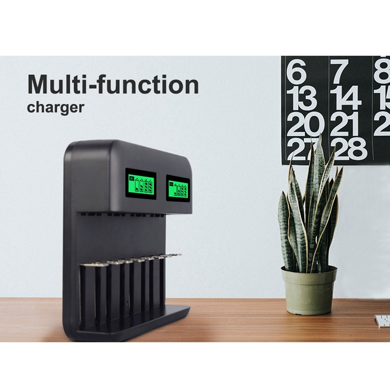 8 Slots Lcd Display Usb Smart <font><b>Battery</b></font> Charger For <font><b>Aa</b></font> Aaa Sc C D Size Rechargeable <font><b>Battery</b></font> <font><b>1.2V</b></font> <font><b>Ni</b></font>-<font><b>Mh</b></font> <font><b>Ni</b></font>-Cd Quick Charger image