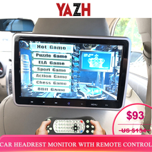 Yazh 10.1 Inch Auto Hoofdsteun Monitor Dvd Video Speler Usb/Sd/Hdmi/Ir/Fm Tft Lcd screen Touch Button Game Afstandsbediening