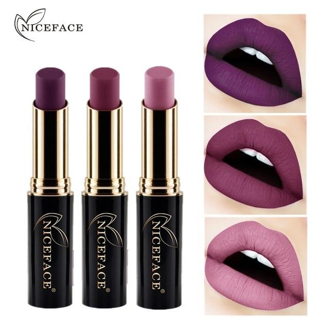 2019 New Metallic Matte Lipstick Waterproof Lip Stick 24 Color Nude Pigment Women Sexy Lips Makeup Matt Long Lasting Lipsticks