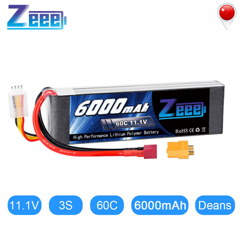 Zeee Lipo Battery 11.1V 6000mAh 60C 3S Rechargeable Drone Battery Deans Plug XT60 Connector 3s Lipo for FPV RC Car Helicopter new original rechargeable zop power 11 1v 5400mah 3s 20c lipo battery xt60 plug