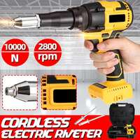 21V Portable Cordless Electric Rivet Gun 2.4 5mm Rivet Nut Gun Drill With LED Cordless Riveting Tool Insert Nut Pull Rivet Tool