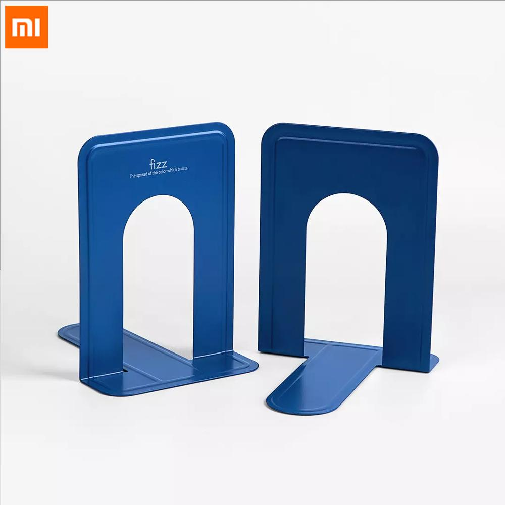 Xiaomi Mijia Fizz Book Stand 2 Pcs Loaded Bookshelf Desktop Storage Metal Sheet Office Bottom Non-slip for Xiaomi Smart Home