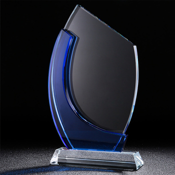 Personalized Crystal Trophy Customized Glass Statue Winner Award Sport Events champions league