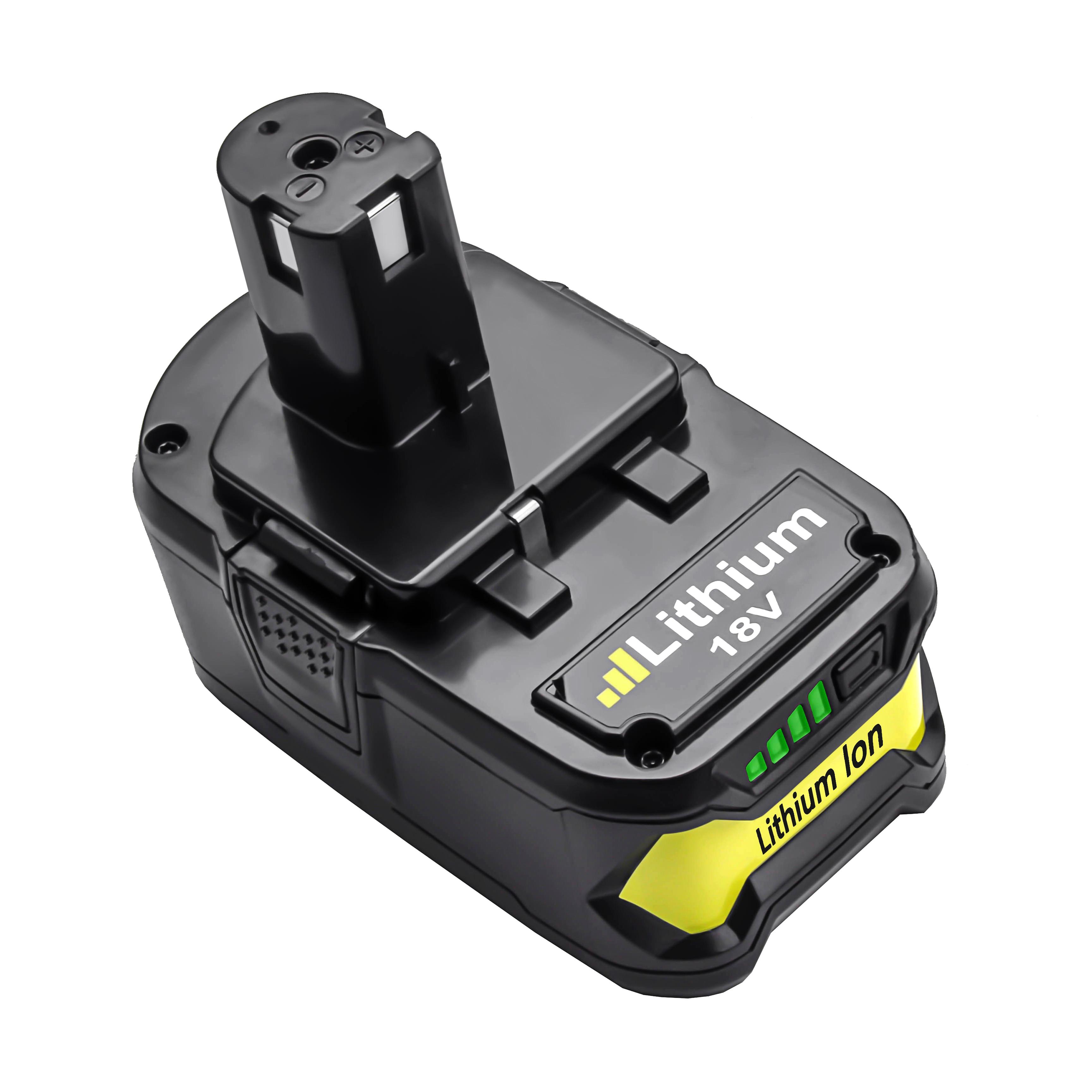 Powtree pour Ryobi 4000mAH 6000mAh 18V P108 Li-Ion Rechargeable outil électrique batterie de remplacement RB18L40 P107 P104 BIW180