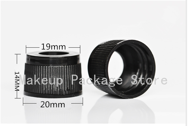 50 pcs/lot plastique noir vis presse bouchon compte-gouttes avec Pipette en verre pour 5/10/15/20/30/50/100ml bouteilles dhuile essentielle