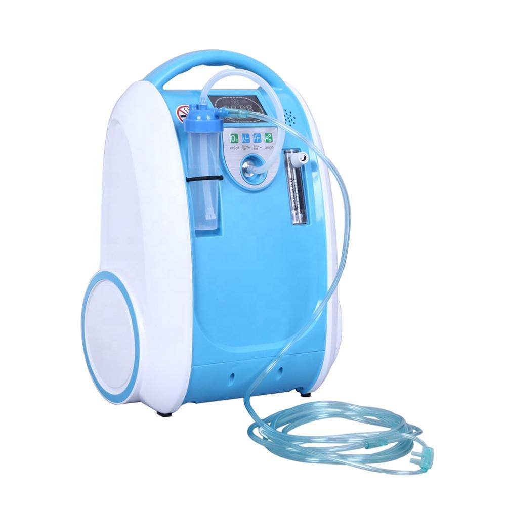 5l gerador de oxigênio portátil médico gerador de concentrador de oxigênio em casa 24 horas respiradores de fluxo de oxigênio contínuo|Máquina de oxigênio|   -