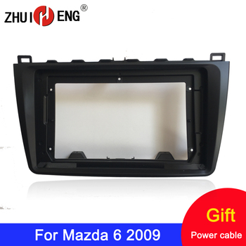 ZHUIHENG 2 Din Car Radio Fascia frame for Mazda 6 2009 car DVD GPS Panel Dash Kit Installation Frame Trim Bezel image