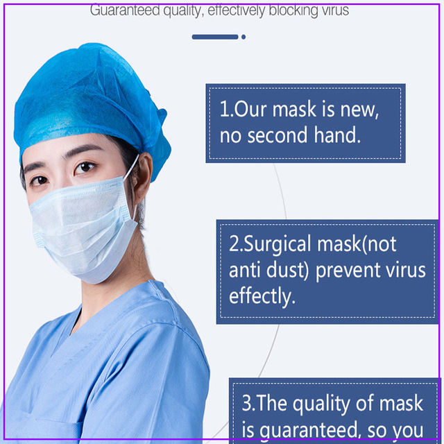10/20/30/200pcs White Disposable Face Mask 3 Layer Anti Virus Mouth Face Mask Prevent Anti-Dust Bacteria Proof Flu kind M 4