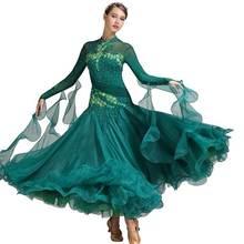 Ball Gown Round Collar Long Sleeve Dress 226-678