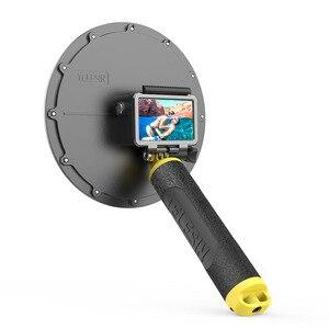 Image 5 - Telesin 6 30M Diepte Dome Poort Voor Gopro Hero Black 7 6 5 Waterdichte Duiken Behuizing Case Voor dji Osmo Action Floaty Bar Stok