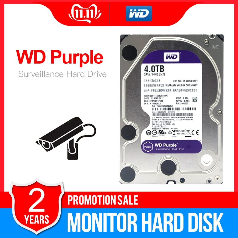 "WD Purple 4TB 3.5"" HDD Surveillance Hard Disk Drive   5400RPM Class SATAIII 6Gb/s 64MB Cache 3.5 Inch   WD40EJRX-in Internal Hard Drives from Computer & Office"