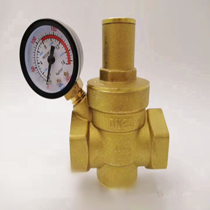 DN15/20/25/32  Brass Water Pressure Reducing Maintaining Valves Regulator Mayitr Adjustable Relief Valves With Gauge Meter