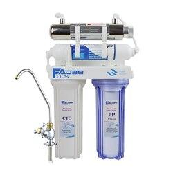 Wysoka jakość! Cztero-stopniowy System filtracji wody pitnej z sterylizatorem ultrafioletowym (UV) 6W do kuchni  hotelu itp.