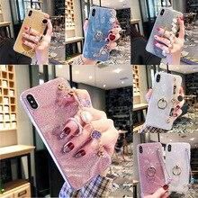 Bracelet Cases For Nokia 7 Plus 7.1 X7 8.1 4.2 9 Glitter Finger Ring Case Cover Nokia 6 2018 6.1 Plus X6 Soft Coque x7 plus