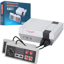 Clássico nostalgia console de jogo retro vídeo playstation mini plug play handheld embutido 620 jogos fc ótimo para a família interagir