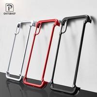 OATSBASF Airbag de Metal funda para iPhone 6x6 s 7 7 Plus funda para Samsung Galaxy S8 S9 Plus caso Shell protector