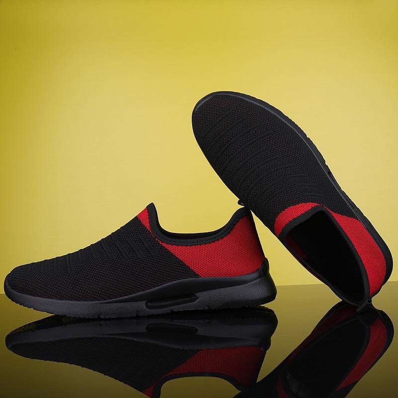 2020 Mens Casual Shoes Men Slip-on Sock Sneakers Breathable Light Leisue Walking Jogging Running Tenis Masculino Adulto 6