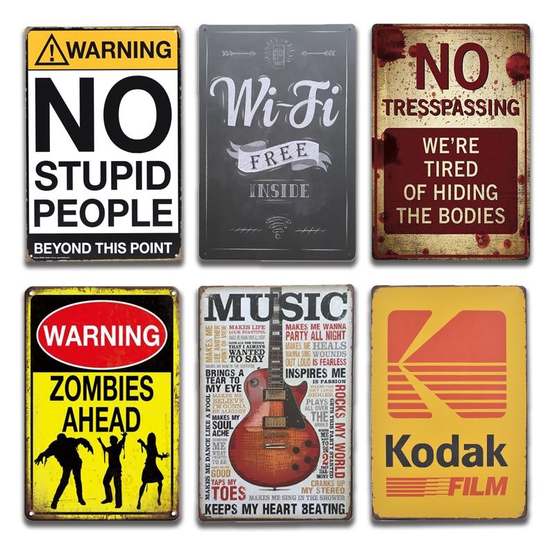 Metal Tin Sign FREE WI-FI Bar Pub Home Vintage Retro Poster Cafe ART