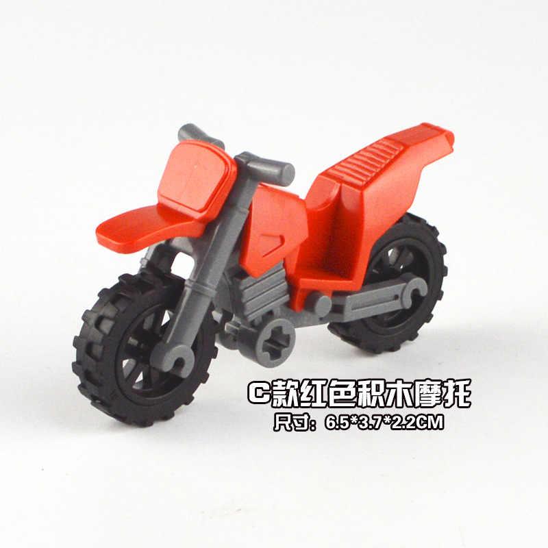 1 Pcs Rosso Building Block Moto Figurine Miniature Animali Antistress Palla Spremere Morbido Alleviare Lo Stress di Giocattoli per Bambini Del Regalo Della Decorazione
