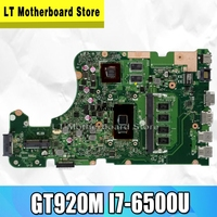 Laptop Motherboard para For Asus X555UJ X555UJ X555UF X555UQ X555UB X555U F555U A555U K555U GT920M I7-6500U originais mianboard