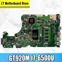 X555UJ Laptop płyta główna For Asus X555UJ X555UF X555UQ X555UB X555U F555U A555U K555U GT920M I7-6500U oryginalny mianboard