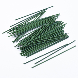 30pcs Flower pole iron wire green leaf vases for home decor christmas decorative flowers wreaths wholesale artificial flowers