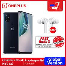 OnePlus Nord N10 5G Światowa premiera globalna wersja 6GB 128GB Snapdragon 690 smartfon 90Hz wyświetlacz 64MP Quad Cams Warp 30T NFC tanie tanio Nie odpinany CN (pochodzenie) Android Rozpoznawania linii papilarnych Do 120 godzin ≈64MP 4300 Dash ładowania Smartfony