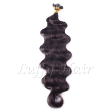 Nails Hair-Extensions Fusion-Hair Body-Wave-Fusion-I-Tip Pre-Bonded Brazilian Made U-Tip-Machine