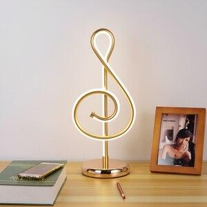 Креативный светодиодный настольный светильник, 3 цвета, затемняющий музыкальный светильник, алюминиевый светильник для чтения, YHJ010911