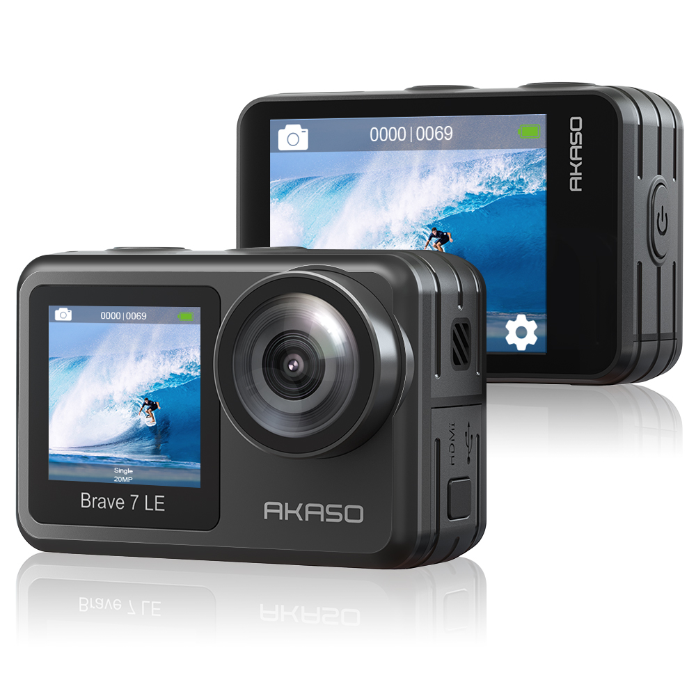 Acaso WiFi Экшн-камера Brave 7 LE 4K30FPS 20MP 4K спортивная водонепроницаемая камера с сенсорным экраном Vlog камера EIS 2,0 пульт дистанционного управления