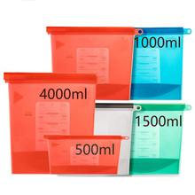 Extra Large 4000ml Silicone Food Saver Bags Reusable Silicone Food Storage Bag  Sandwich, Liquid, Snack, Meat, Vegetable