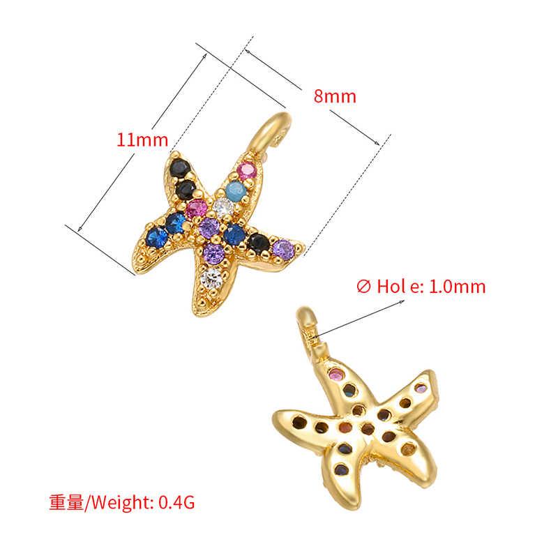 ZHUKOU 8x11 مللي متر النحاس الكريستال نجمة صغيرة قلادة جالبة للحظ للنساء اليدوية عقد دي اي واي القرط مجوهرات اكسسوارات نموذج: VD553