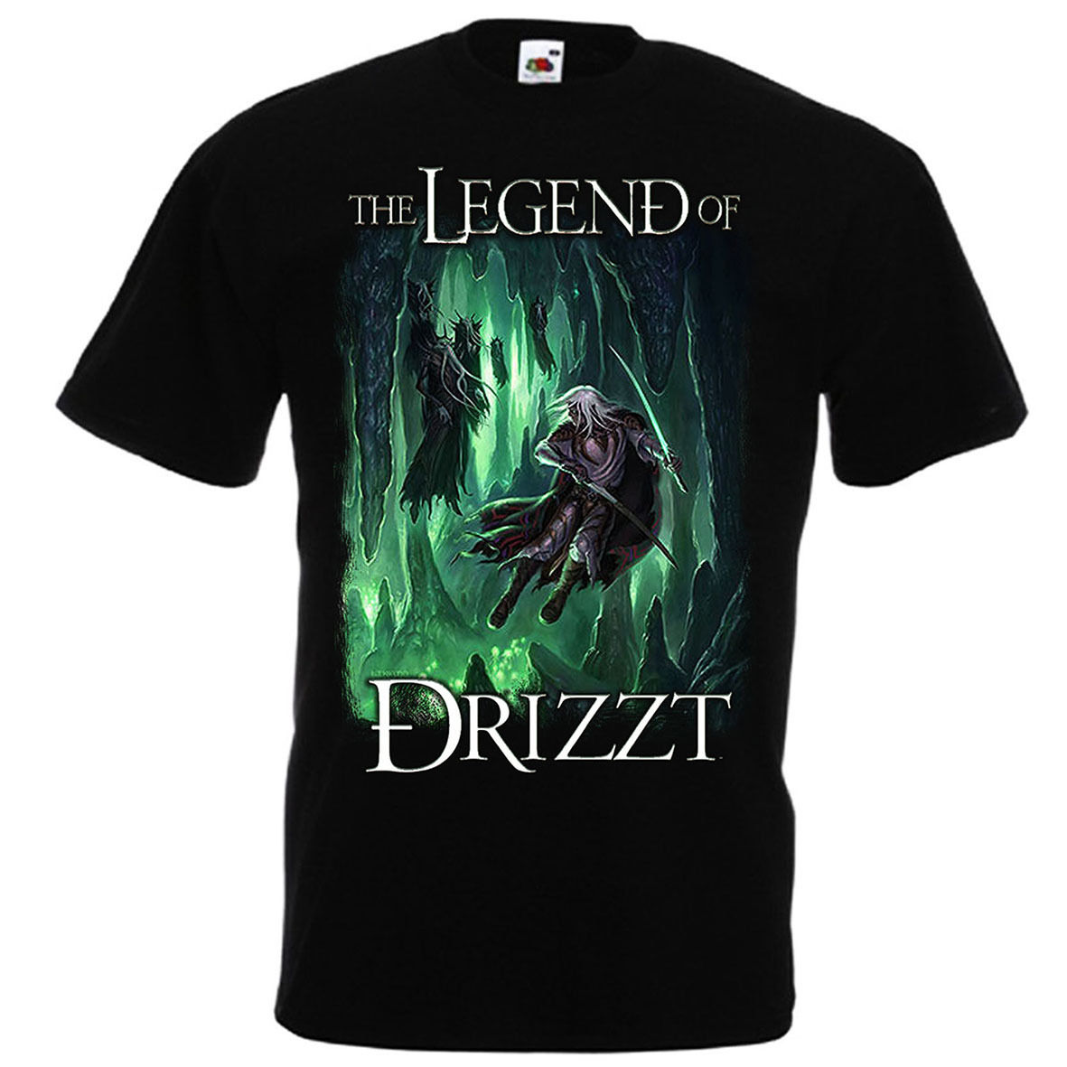 <font><b>Drizzt</b></font> Do'Urden T-Shirt Fruit of The Loom Salvatore The Legend of <font><b>Drizzt</b></font> Style Vintage T Shirts image