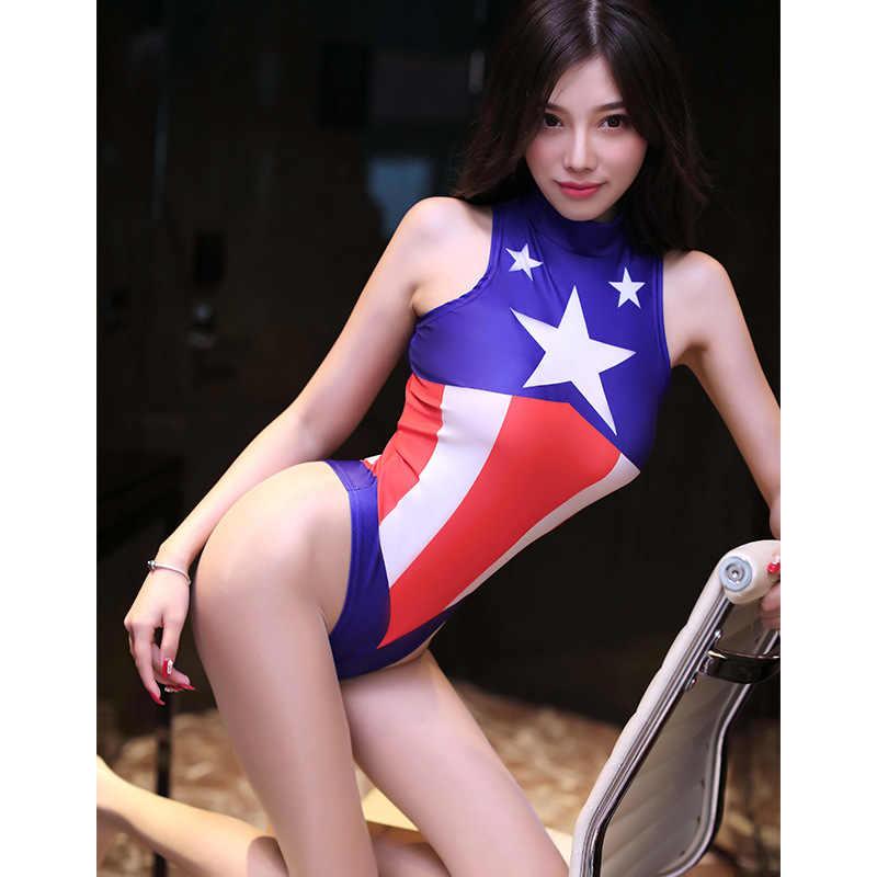 Капитан Америка танкини купальники женские/сексуальное бикини для девушек купальники боди 3D принтин Человек-паук Комбинезоны Косплей костюмы